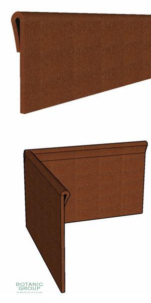 rasenkante cortenstahl metallteile verbinden. Black Bedroom Furniture Sets. Home Design Ideas