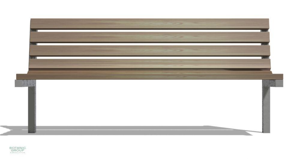 MUlltonnenbox Holz Und Edelstahl ~ Gartenbank, Sitzbank SLC17, Edelstahl mit Holz  Pflanzenversand