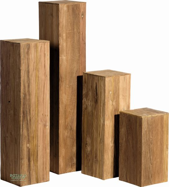 s ule teak holz dekos ule aus teakholzpaneelen pflanzen pflanzgef e und stadtm blierung. Black Bedroom Furniture Sets. Home Design Ideas