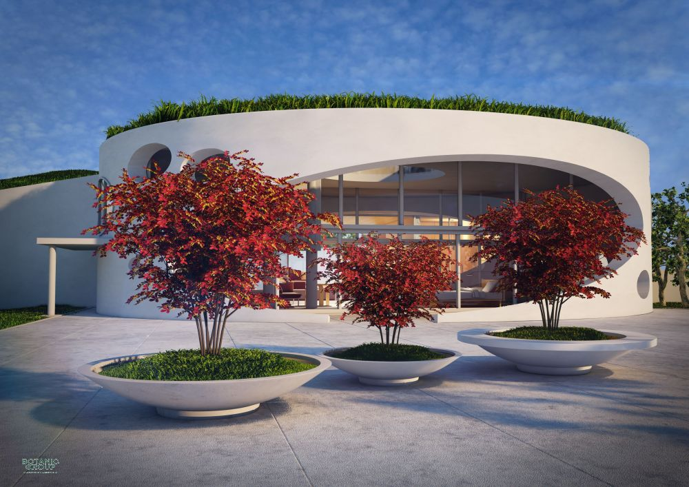 beton polybeton pflanzschale xxl mit sitzring. Black Bedroom Furniture Sets. Home Design Ideas