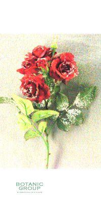 Weihnachtsdekoration - Kunstblume, Rose Twiggy kurzer Stiel mit
