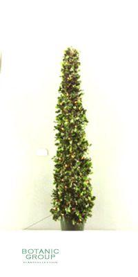 Kunstbaum - Holly topiary mit Schneeglitter für draußen