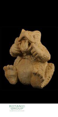 Naturstein - Skulptur Frosch mit Zunge