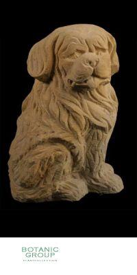Naturstein - Skulptur Hund