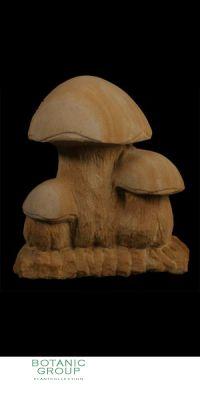 Naturstein - Skulptur Pilzgruppe 3 Fach
