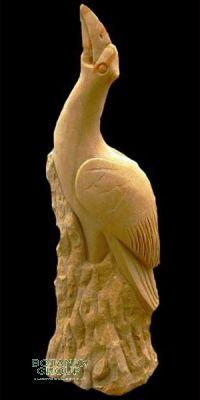 Naturstein - Skulptur Kormoran