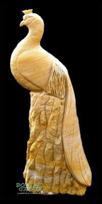 Naturstein - Skulptur Pfau