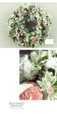 Weihnachtsdekoration - Weihnachtskranz, Frost