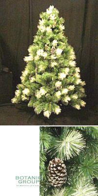 Künstlicher Weihnachtsbaum mit Silberglitter