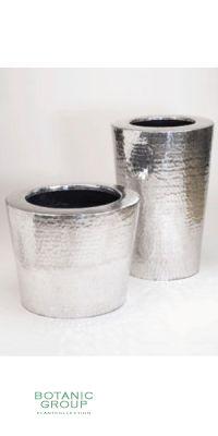 Pflanzgefäß Aluminum gehämmert