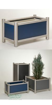 Pflanzgefäß Stainless Tube Design - Quadrato