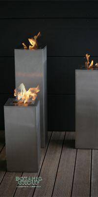 Edelstahl Feuersäule FireStar