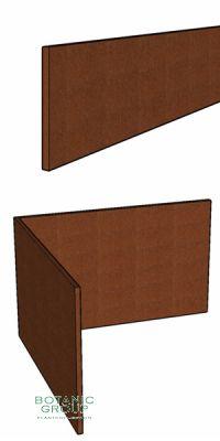 Rasenkante aus Corten- Stahl 200 mm Höhe