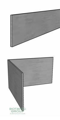 Rasenkante aus Stahl, verzinkt, 100 mm Höhe