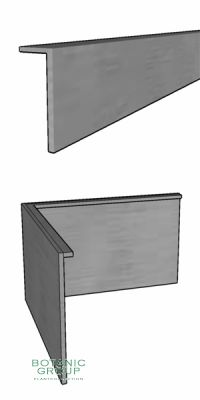 Galvanized steel lawn edge with 90 ° angles in 150 mm Height