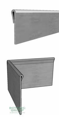 Baumeinfassung aus verzinktem Stahl, gefalzter Rand 300 mm hoch