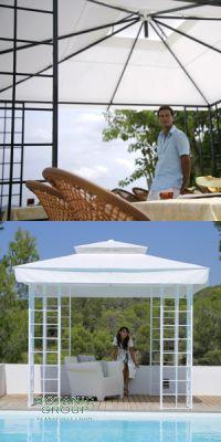 sonnenschutz pavillon toscana pavillons pflanzen. Black Bedroom Furniture Sets. Home Design Ideas