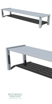Park Bench SLC01, backless, steel or stainless steel