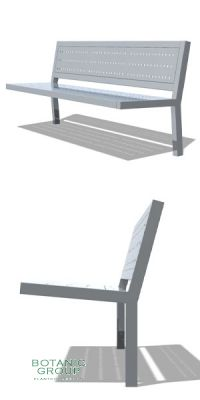 Park bench, bench StainSteel 01, stainless steel