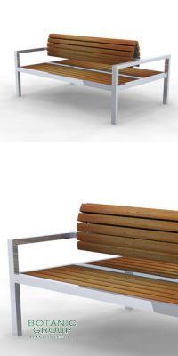 Park bench, double - double bank SLC09