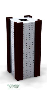 Abfallbehälter, Müllbehälter SLC04 Edelstahl & Holz