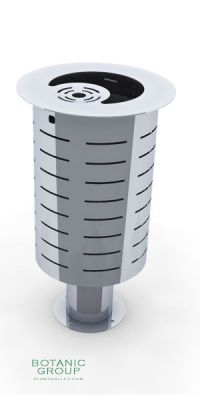 Waste containers, stainless steel SLC06