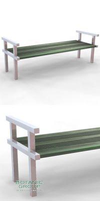 Sitzbank SLC22,  Edelstahl mit Holz