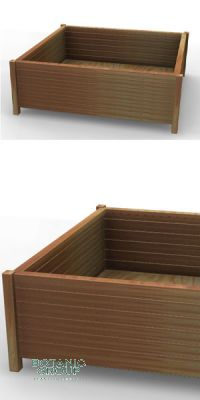Hardwood planter Woody 01, Tauari wood