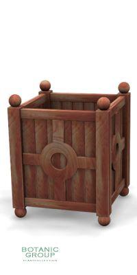 Hardwood planter Woody 04, Tauari wood