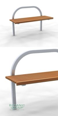 Park bench, bench SLC24, stainless steel with wood