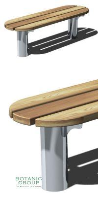 Parkbank SLC25,  Stahl mit Holz