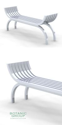 Park Bench SLC26, backless, steel or stainless steel