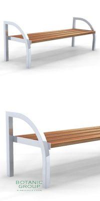 Sitzbank SLC27,  Stahl mit Holz - Freiraummöbel