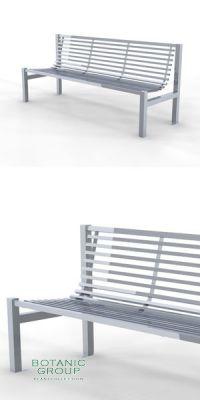 Parkbank, Sitzbank StainSteel 02,  Edelstahl oder Stahl - Citymö
