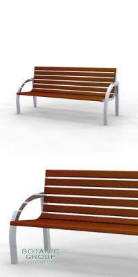 Sitzbank SLC33,  Stahl & Holz - Freiraumausstattung