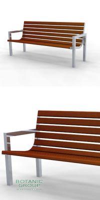 Sitzbank SLC34,  Stahl & Holz - Freiraumausstattung