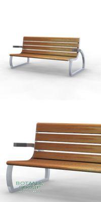 Sitzbank SLC35,  Stahl & Holz - Freiraumausstattung