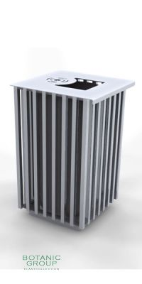 Waste containers, stainless steel SLC15