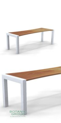 Sitzbank SLC39,  Stahl & Holz - Freiraummöbel