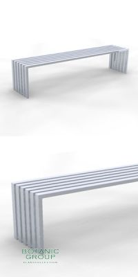 Park Bench SLC41, backless, steel or stainless steel