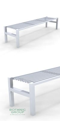 Park Bench SLC43, backless, steel or stainless steel