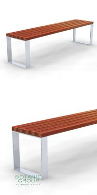 Park bench, bench SLC46, steel with wood