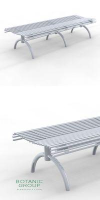 Sitzbank SLC50, Stahl oder Edelstahl, Freiraummöbel