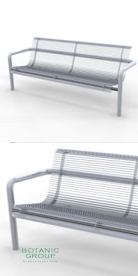 Park Bench SLC55,  stainless steel