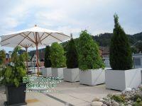 Fiber cement planter, square planter XXL