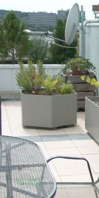 Fiber cement planter, hexagon planter XXL