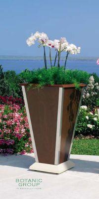 Pflanzvase Urban Green, Pflanzkübel Holz