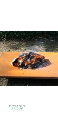 Flache Feuerschale aus Cortenstahl BC Design, Stahl Feuerschale