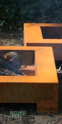 Flat fire bowl BC Corten steel design, steel fire bowl