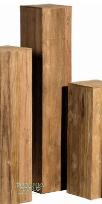 Column teak wood, teak panels decorative column